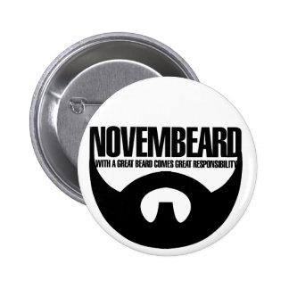 Novembeard for Beards Pinback Buttons
