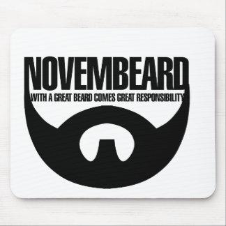 Novembeard para las barbas tapetes de ratones