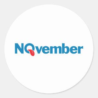 NOvember2.png Round Sticker