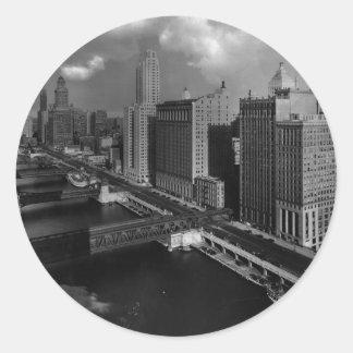 November 1939:  The city of Chicago Classic Round Sticker