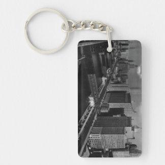 November 1939:  The city of Chicago Double-Sided Rectangular Acrylic Keychain