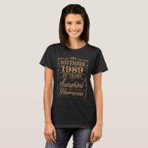 November 1989 31 Year Sunshine Hurricane T-Shirt