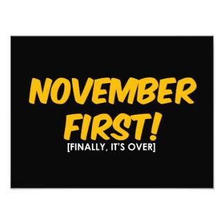 November 1st Anti Halloween Photo Print