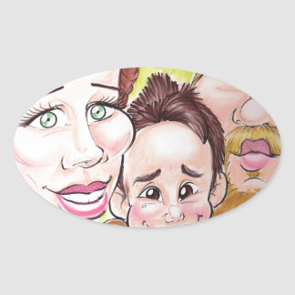 November 2012 State Fair Louisiana Caricature Oval Sticker