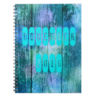 November 2016 Purple Turquoise Month Notebook