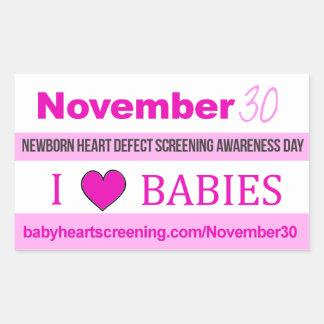 November 30: Newborn Heart Screening Day Stickers