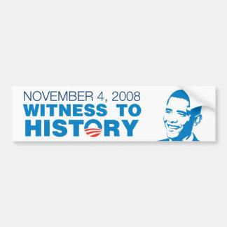 November 4: Witness to History Bumper Sticker Car Bumper Sticker
