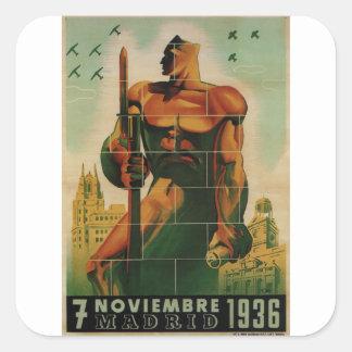 November 7, 1936_Propaganda Poster Square Sticker