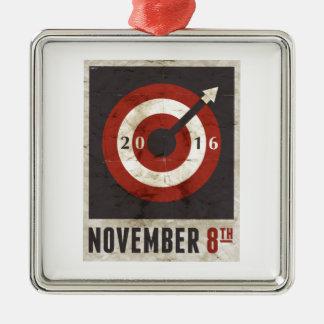 November 8, 2016 metal ornament