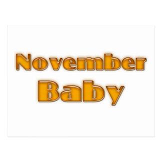 November Baby Post Card