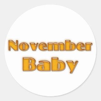 November Baby Round Sticker