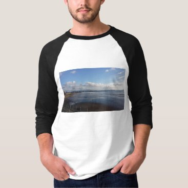 Beach Themed November Beach Autumn Men TShirt 3/4 Sleeve Sunpyx