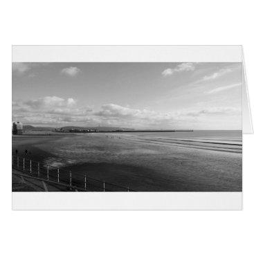 "Beach Themed November Beach (Black & White)- (5"" x 7"") RBDStore Card"