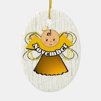 November Birthday Angel Christmas Ornament