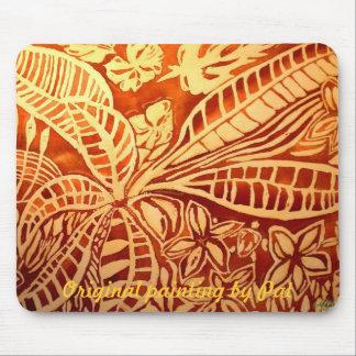 November brown leaves mouse pad