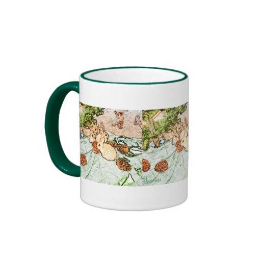 November Bunnies Ringer Coffee Mug