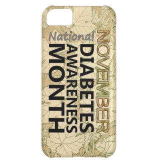 November Diabetes Awareness Month Fall Leaves Cover For iPhone 5C
