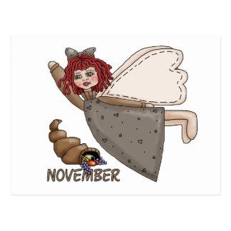 November Fairy Postcard