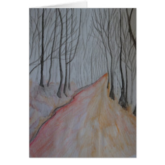November Forest Greeting Card. Card