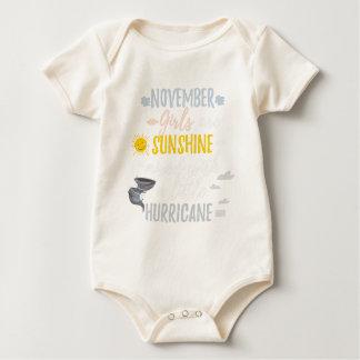 NOVEMBER Girls Sunshine and Hurricane Birth Month Baby Bodysuit