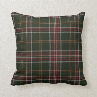 November Green Tartan Pillow