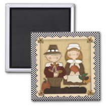 November Holiday Pilgrim Thanksgiving Magnet