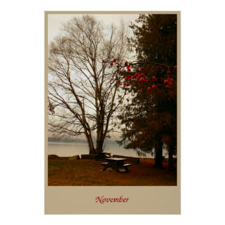 November in the park poster