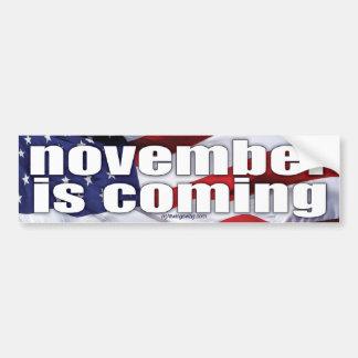 november is coming bumper sticker