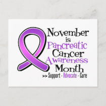 November is Pancreatic Cancer Awareness Month Postcard