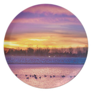 November Lagerman Reservoir Sunrise Dinner Plate