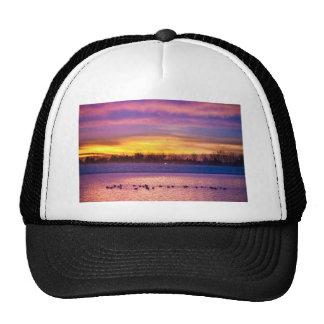 November Lagerman Reservoir Sunrise Trucker Hats