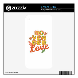 November Love Decals For The iPhone 4S