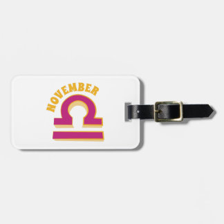 November Tags For Luggage