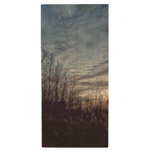 November Moonlight Wood Flash Drive