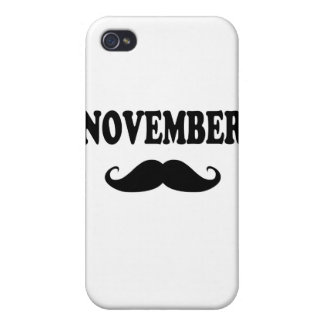 November Moustache!!! Cover For iPhone 4