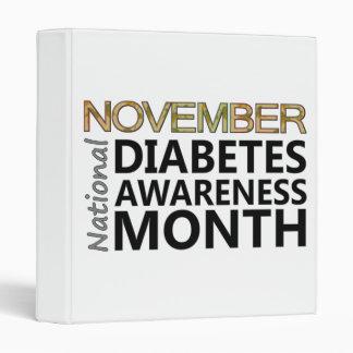 November National Diabetes Awareness Month 3 Ring Binder