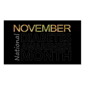 November National Diabetes Awareness Month Business Card
