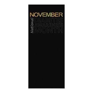 November National Diabetes Awareness Month 4x9.25 Paper Invitation Card