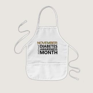 November National Diabetes Awareness Month Kids' Apron