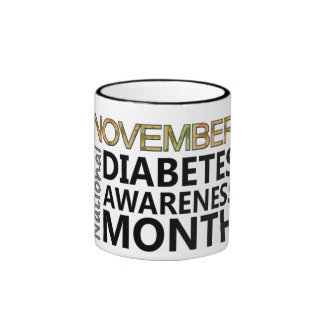 November National Diabetes Awareness Month Ringer Mug