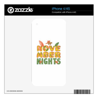 November Nights Decal For iPhone 4