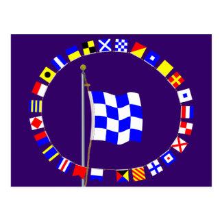 """November """"No"""" Nautical Signal Flag Postcard"""