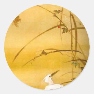 November - Sakai Hōitsu (酒井 抱一) Classic Round Sticker