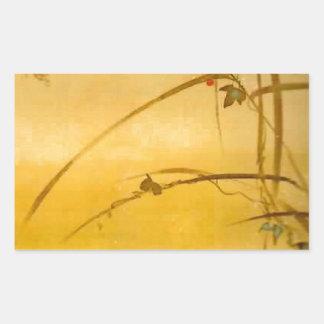November - Sakai Hōitsu (酒井 抱一) Rectangular Sticker