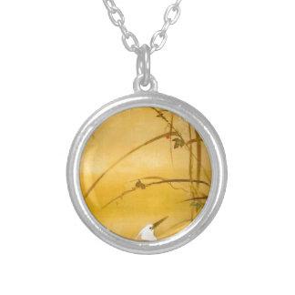 November - Sakai Hōitsu (酒井 抱一) Silver Plated Necklace