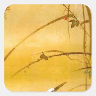 November - Sakai Hōitsu (酒井 抱一) Square Sticker