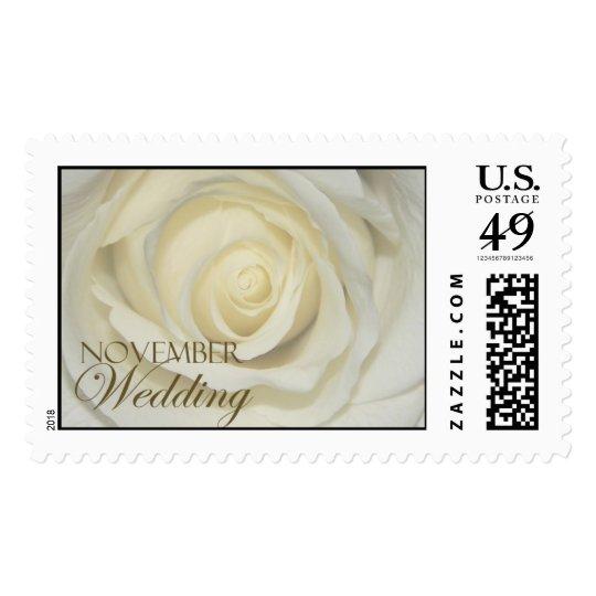 November simply cream wedding rose postage