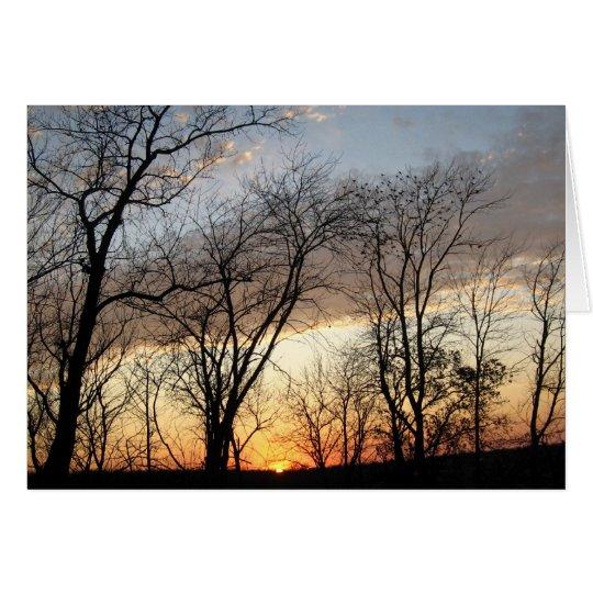 November Sunset Card