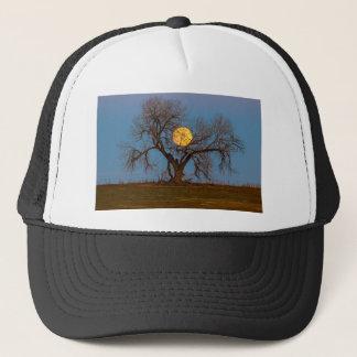 November Supermoon Tree Trucker Hat