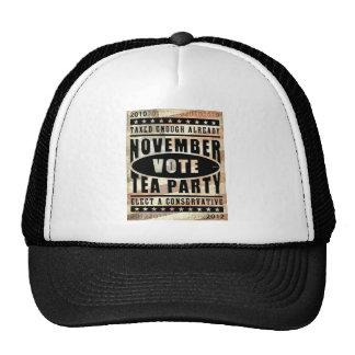 November Tea Party Mesh Hats